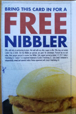 15 Zaxby's Nibbler Cards with No Expiration