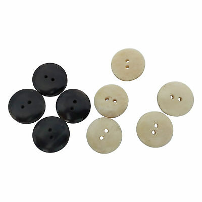Black and White Real Ox Horn Buttons 20mm Medieval Reenactment LARP Pack of 10