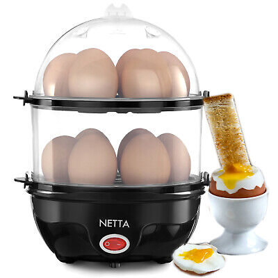 NETTA Electric Egg Boiler Cooker Poacher Steamer 14 Large Eggs Hard/Soft