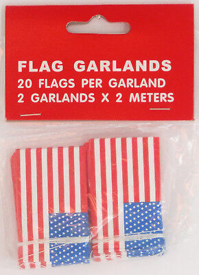 American Paper Flag Garland Stars Stripes July 4Th Patriotic Holiday Party Usa
