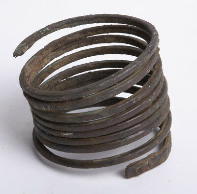 Ancient Etruscan Spiral Bronze Bracelet c.5th cent BC.