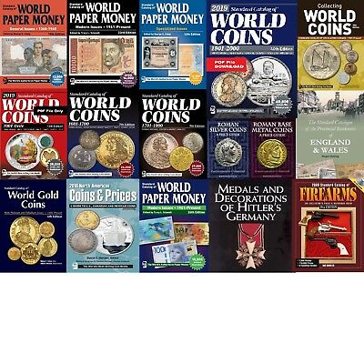 NEW 2019 Set of Catalogs of World Coins and Paper Money PDF files