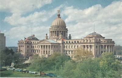 Jackson Mississippi MS State Capitol Postcard Deep South Card Chrome