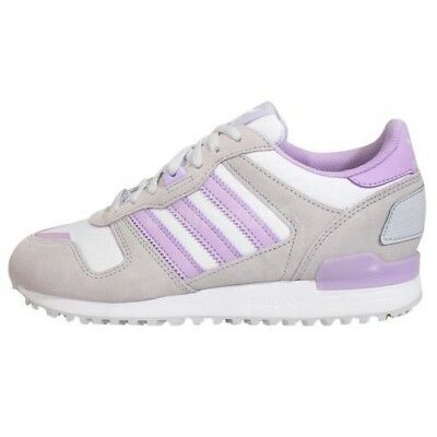 sports shoes e5542 2e486 Adidas ZX 700 Womens Retro Sports Trainers Grey Purple Classic Shoes  Sneakers