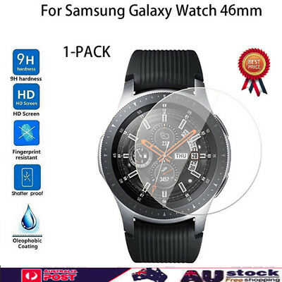 1-PACK 9H Hard Tempered Glass Screen Protector For Samsung Galaxy Watch 46MM AU