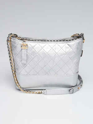 e761be18a13a CHANEL SILVER QUILTED Leather Medium Gabrielle Hobo Bag - $3,985.00 ...