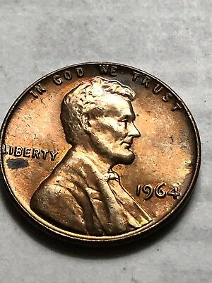 1964 Lincoln Memorial Cent. Toned Proof. Monster Gem BU+,Red-Toned. Lot P82