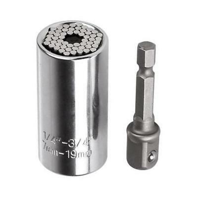 Universal Multi-Function Gator Socket Wrench Sleeve Grip Drill Adapter Hand Tool