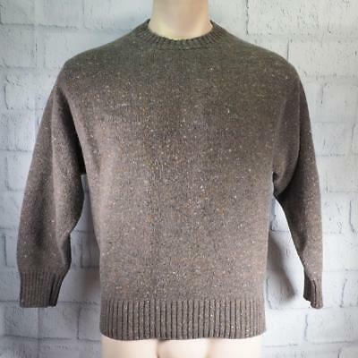 Vintage Barbour Mens Wool Sweater Size S Small made in Scotland