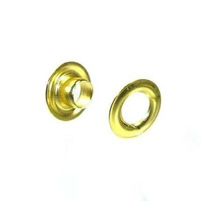 #3 Grommets Solid Brass and brass Plated with Washer Leather Craft 100 Packs