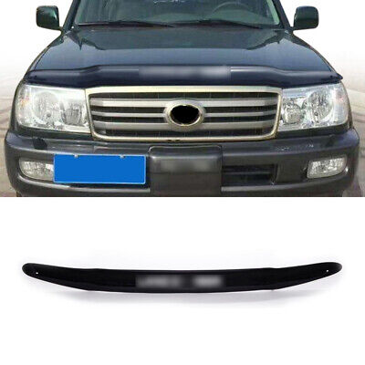 W/ Land Cruiser Black Front Hood Bonnet Guard Fit For Toyota LC 2001-2007 Year