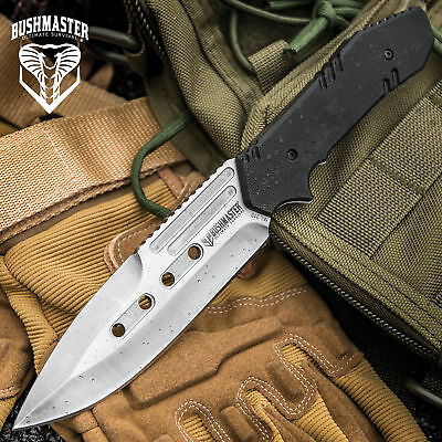 """9"""" TACTICAL COMBAT SURVIVAL Boot Tanto HUNTING KNIFE Bowie Military Fixed Blade"""