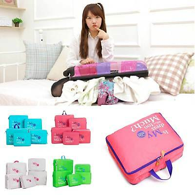 5 Pcs Clothes Underwear Socks Packing Cube Storage Bag Travel Luggage Organizer