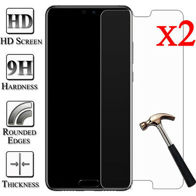 For Huawei P20 10 9 8 Lite Plus Tempered Glass Protective Screen Protector 2pcs