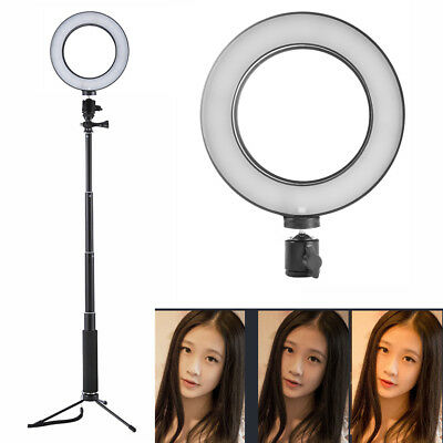 Dimmable 64 LED SMD Studio Camera Ring Light Photo Phone Video Light + Stand