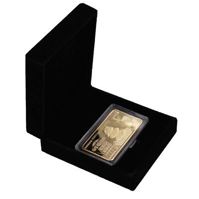 Holiday Gifts Zimbabwe One Hundred Trillion Dollar 24k Gold Plated Bar In Box