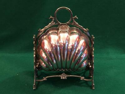 Victorian shell folding biscuit box circa 1890