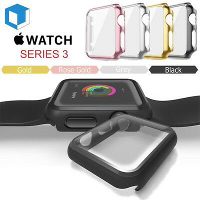 Apple Watch Series 3 Full Protective Case+Screen Protector Cover iWatch 38/42mm