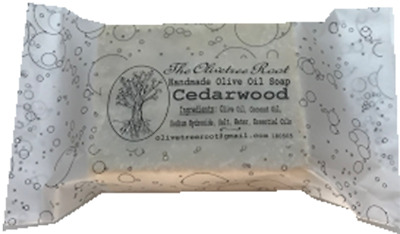 Greek Handmade Olive Oil Soaps with Cedarwood  3x110 gr.