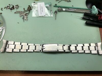 Rolex Usa Ci 19Mm Folded Link Riveted Oyster Band!!!