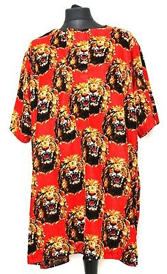 Ichie (Red) Handmade Igbo Traditional Top Isi Agu Authentic Velvet African Men