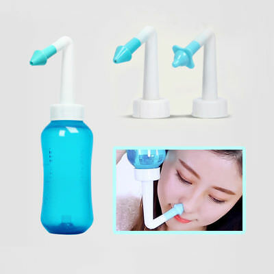 300ml Nose Wash Cleanser Bottle Relief Sinus Nasal Cleaning Rinse Neti Device