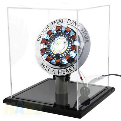The Avengers Iron Man Tony DIY MK1 Arc Reactor Prop Stand Base Glass Case
