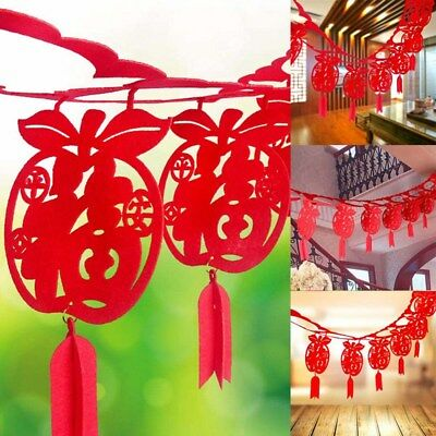 2019 Year of the Pig Chinese New Year Bunting Banner Home Shop DIY Decor Supply