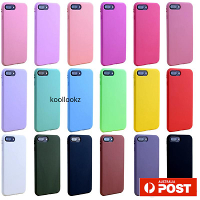 Silicone rubber Cover Case for Apple iPhone shockproof XS Max XR X 8 7 6 plus