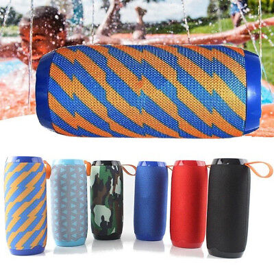 Portable Bluetooth Speaker Waterproof Outdoor Bass Subwoofer FM Radio/TF/USB/AUX