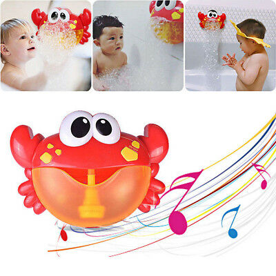 Crab Bubble Maker Automated Spout Bubble Machine Bath Shower Kids Fun Toy Gift