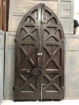 Old Oak Arched Church Doors