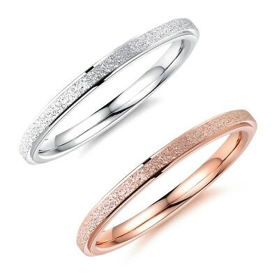 Fashion Small Frosted Girls Ladies Women Rings Jewelry Size F H J1/2 M O Q