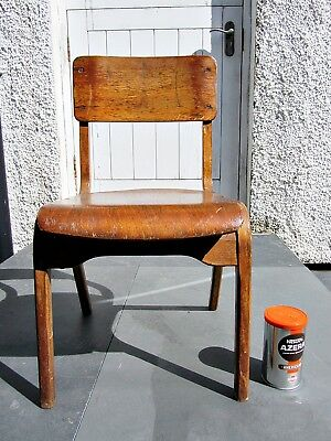 Vintage Child's Infant Primary School Chair 50/60's Melody Summers' Signature