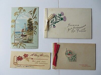 Vintage Christmas Cards 1900s Mixed Lot of 15  #9264