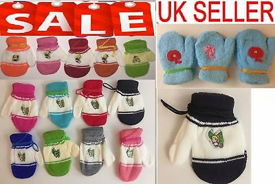 Baby Boys Girls Toddler Adorable warm  Mittens Gloves With String & Baby Socks