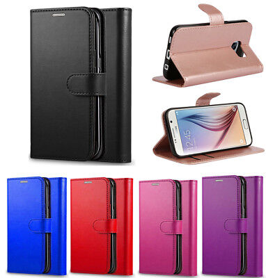For Samsung Galaxy S6 S7 Edge S8 S9 Plus Leather Flip Wallet Phone Case Cover