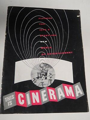 RARE VINTAGE 1952 Cinerama World Premiere Brochure Movies
