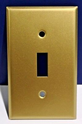 2-PK SATIN BRASS Single Gang Light Switch WALL PLATE Cover NEW BR-3 WOW!