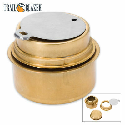 Survival Brass Portable Cooking Camping Alcohol Burner Stove w/ Flame Regulator