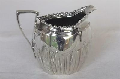 A Stunning Antique Solid Sterling Silver Victorian Cream Jug Sheffield 1896.
