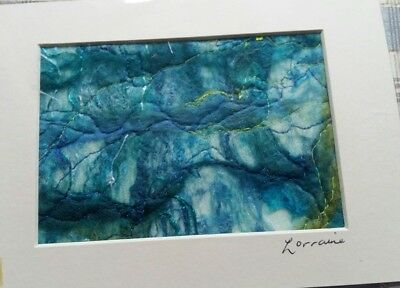 HEBRIDEAN HARRIS WOOL SEASCAPE  - WET FELTING  1 off design - silk nuno