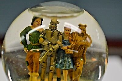 """Wizard Of Oz All 4 Characters Snow Globe With Flying Monkey Base 4"""" Tall"""