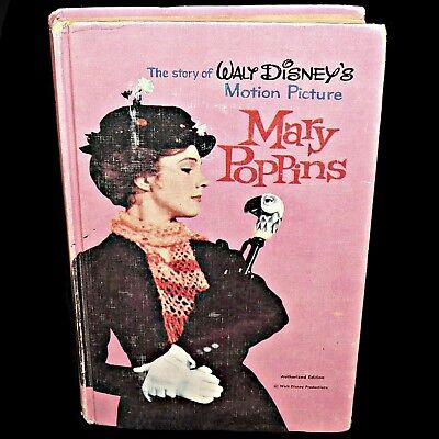 1964 Mary Poppins Book Julie Andrews Movie Walt Disney Motion Picture Mary Carey