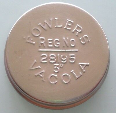 "8 x  Fowler's Fowlers Vacola 3""  inch S/Steel Lids Collectable Preserving"