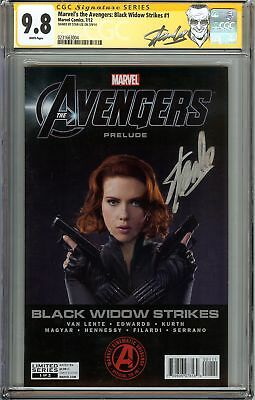 Marvel's the Avengers: Black Widow Strikes #1 CGC 9.8 NM/MT Signed STAN LEE