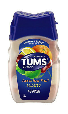 Tums Extra Strength Tablet Fruit 48ct antacid