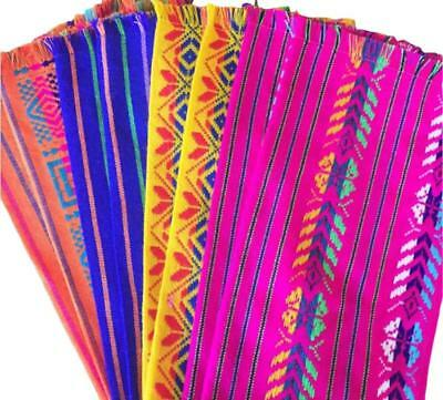 Mexican Fabric napkins, Bulk Set of 6 tribal assorted colors