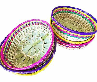 Straw woven Decorative Basket from Mexico
