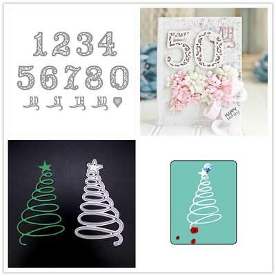 Star Lace Numbers Metal Cutting Dies Stencil Scrapbooking Embossing Card Craft
